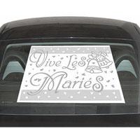 Plaques Autocollantes Transparentes Vive les Mariés