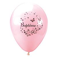 Le Lot de 8 Ballons Nacrés Luxe Baptême Papillons