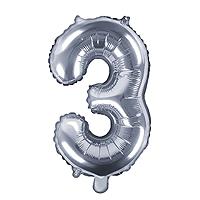 Ballon Chiffre 3 Argent