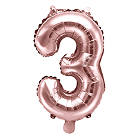 Ballon Gonflable Rose Gold Chiffre 3