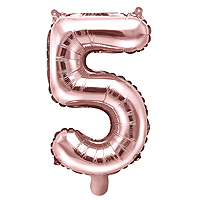 Ballon Gonflable Rose Gold Chiffre 5