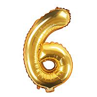 Ballon Doré Chiffre 6