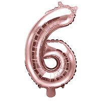 Ballon Chiffre 6 Rose Gold