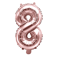 Ballon Gonflable Rose Gold Chiffre 8