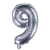 Ballon Argenté Chiffre 9