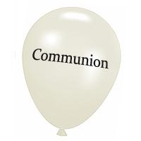 Ballons Blancs Marqués Communion