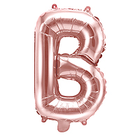Ballon Lettre B Rose Gold
