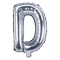 Ballon Argenté Lettre D