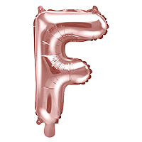 Ballon Lettre F Rose Gold