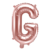 Ballon Lettre G Rose Gold