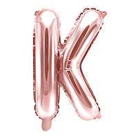 Ballon Lettre K Rose Gold