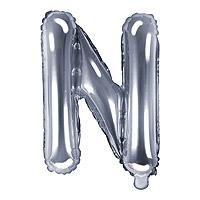 Ballon Lettre N Argent