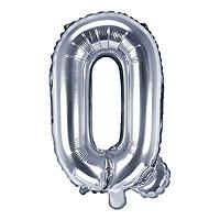 Ballon Argenté Lettre Q
