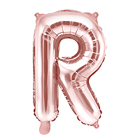 Ballon Lettre R Rose Gold