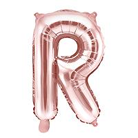 Ballon Lettre R Rose Gold