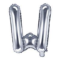 Ballon Argenté Lettre W