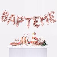 Ballons Lettres BAPTEME
