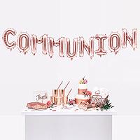 Ballons Lettres COMMUNION