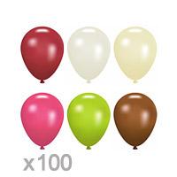 Le Lot de 100 PETITS Ballons Nacrés 12cm