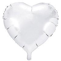 Ballon Mylar Aluminium Coeur 45cm Blanc