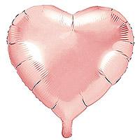 Ballon Mylar Aluminium Coeur 45cm Rose