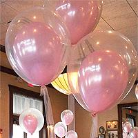 10 Ballons Cristal Transparents 35 cm