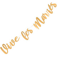 Banderole Vive les Mariés Doré