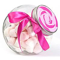 Le Bocal à Bonbons Inclinable Couvercle Argenté