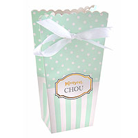 Boites Baby Shower Rayures et Pois Mr Chou x6