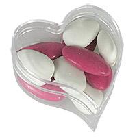 Boites Coeur Pvc Transparent Contenant dragées