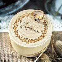 Boite Alliances Originale en bois Eco Responsable Amour et Laurier Pas Cher