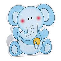 Boite Contenant Dragées Bébé Eléphant Bleu