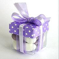 Boites Dragées Tendance Cube Petits Pois