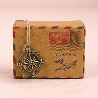 Lot de 10 Petites Boites à Dragées Air Mail Vintage