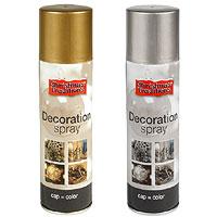 Bombe Peinture Spray Doré ou Argent