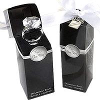 Bouchon Vin Bague Diamant Cadeau Invité Mariage