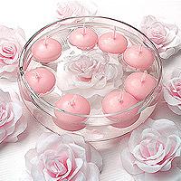 Bougies Flottantes Rose x6