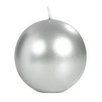 La Bougie Ronde Sphère Boule 8 cm Gris Argent