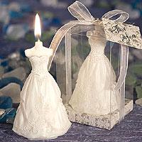 Bougie Robe de Mariée Mariage