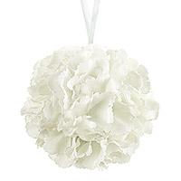 Boule de Fleurs Artificielles 17 cm Blanche