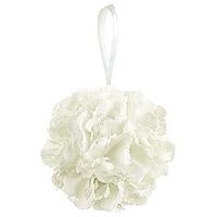 Petite Boule de Fleurs Artificielles 11 cm Blanche
