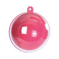 Boule Pvc Transparente Couleur Rose Fuchsia Boite Dragée