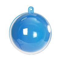 Boule Pvc 5cm Bleu Turquoise Contenant Dragées