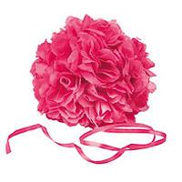 Boule Fleurs Artificielles Roses 18 cm FUCHSIA