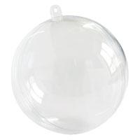 Lot de 5 Boules Moyennes Translucides de Décoration 8 cm