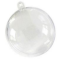 Lot de 5 Boules Moyennes Translucides 8 cm