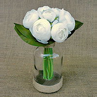 Bouquet Pivoines Blanches Centre de Table