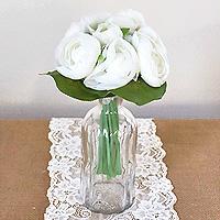 bouquet pivoines blanches artificielles