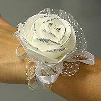 Bracelets Organza Rose Pailletée