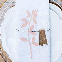 Branches Feuilles Marque Place avec Etiquettes x6